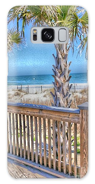 Deck On The Beach Galaxy Case by Gayle Price Thomas