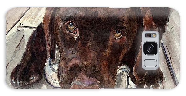 Chocolate Lab Galaxy Case - Deckhand by Molly Poole