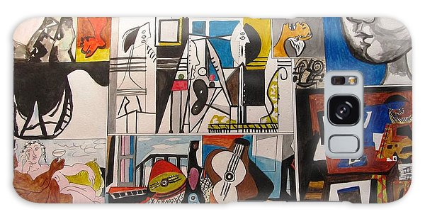 Deconstructing Picasso - Women And Musicians Galaxy Case
