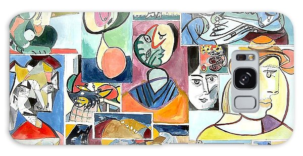 Deconstructing Picasso - Women Sad And Betrayed Galaxy Case