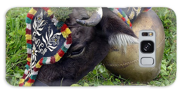 Decorated Cow During Cattle Drive In Tyrol Galaxy Case