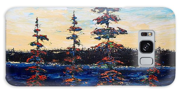 Decorative Pines Lakeside - Early Dusk Galaxy Case
