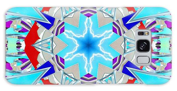 Galaxy Case featuring the digital art Deep Blue Geometry by Derek Gedney