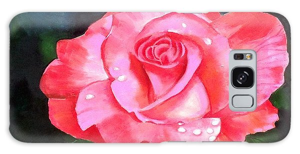 Deep Pink Rose Galaxy Case