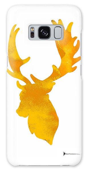 Deer Galaxy Case - Deer Antlers Image Watercolor Art Print Painting by Joanna Szmerdt