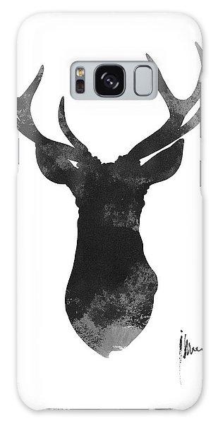 Deer Galaxy Case - Deer Antlers Watercolor Painting Art Print by Joanna Szmerdt