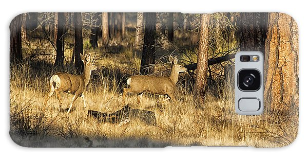 Galaxy Case featuring the photograph Deer On The Run by Belinda Greb