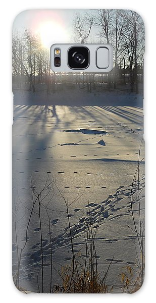 Deer Tracks On The River Galaxy Case by Kent Lorentzen