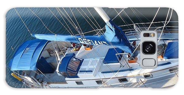 Defiant Sailboat Blues Galaxy Case