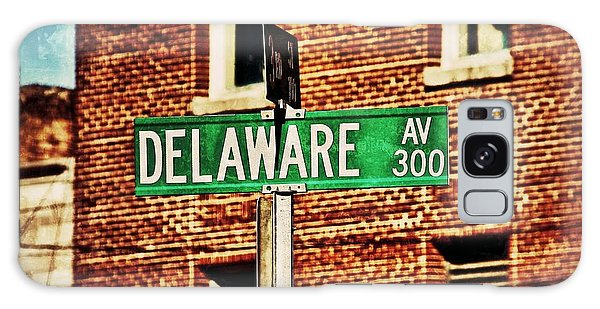Delaware Avenue Street Sign Galaxy Case