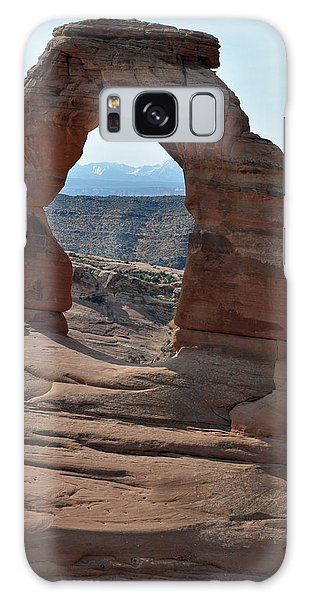 Delicate Arch In Arches National Park Galaxy Case