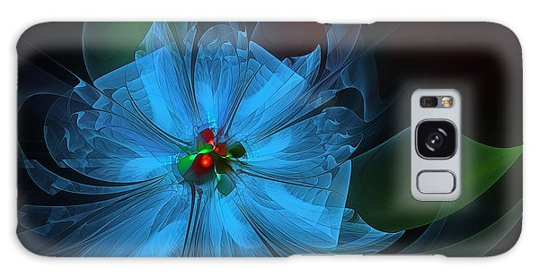 Delicate Blue Flower-fractal Art Galaxy Case
