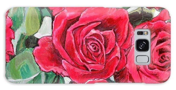 Delight Of Grandma's Roses Painting Galaxy Case by Kimberlee Baxter