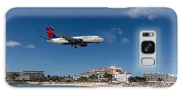 Delta 737 St. Maarten Landing Galaxy Case