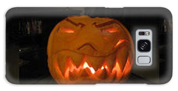 Galaxy Case featuring the sculpture Demented Mister Ullman Pumpkin 2 by Shawn Dall