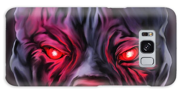Demon Pit Bull Galaxy Case by Michael Spano