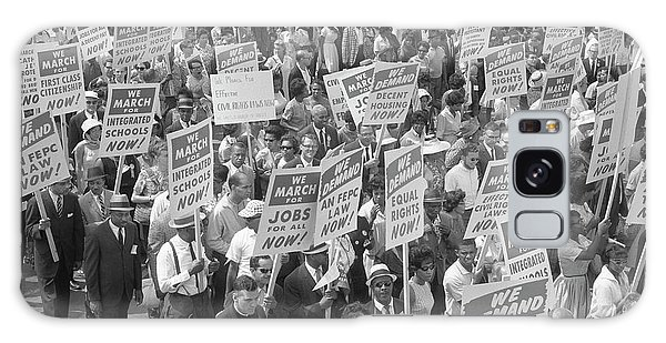 March On Washington Galaxy Case - Demonstrators Marching In The Street by Stocktrek Images