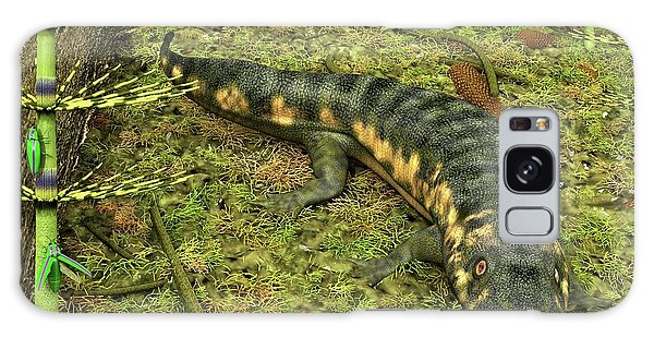 No-one Galaxy Case - Dendrerpeton Prehistoric Amphibian by Walter Myers