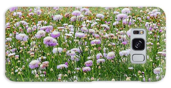 Dense Basket-flowers And Firewheels Galaxy Case