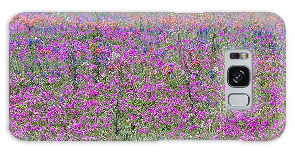 Dense Phlox And Other Wildflowers Galaxy Case