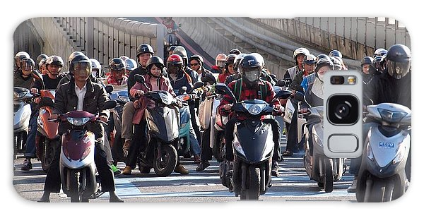 Dense Scooter Traffic In Taiwan Galaxy Case by Yali Shi