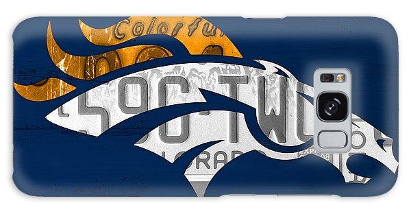 Sport Galaxy Case - Denver Broncos Football Team Retro Logo Colorado License Plate Art by Design Turnpike