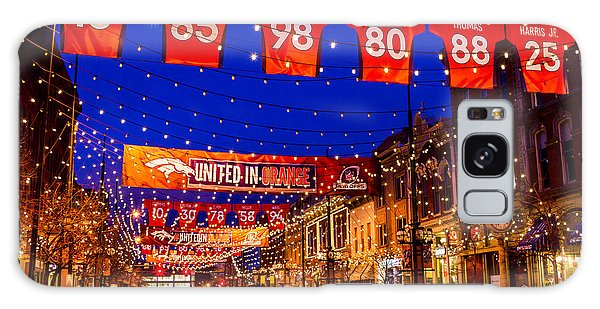 Denver Larimer Square Blue Hour Nfl United In Orange Galaxy Case