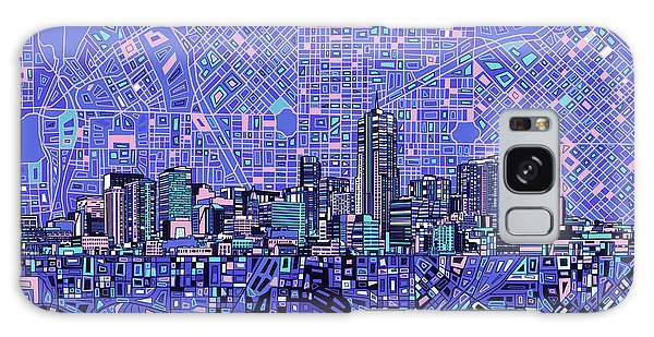 Denver Skyline Abstract 4 Galaxy Case