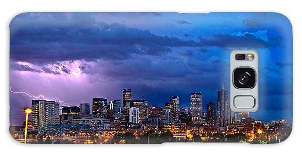 Evening Galaxy Case - Denver Skyline by John K Sampson