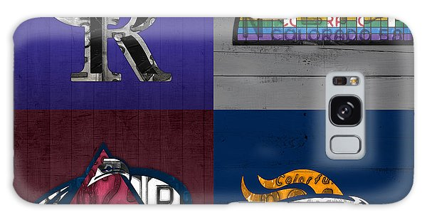 Recycle Galaxy Case - Denver Sports Fan Recycled Vintage Colorado License Plate Art Rockies Nuggets Avalanche Broncos by Design Turnpike