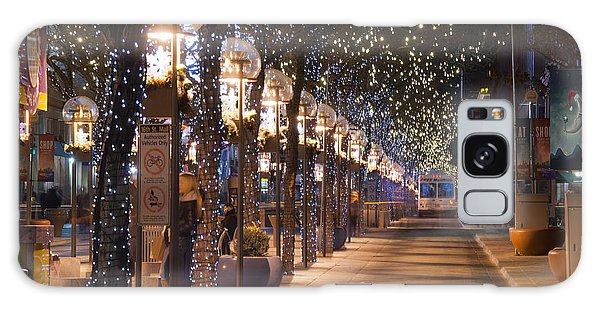 Denver's 16th Street Mall At Christmas Galaxy Case