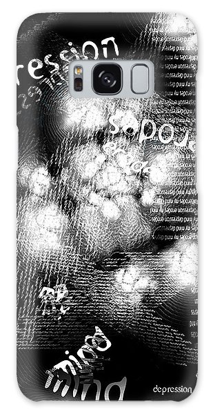 Depression Erodes My Mind Galaxy Case by Chuck Mountain