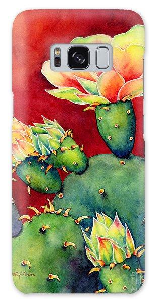 Botanical Garden Galaxy Case - Desert Bloom by Hailey E Herrera