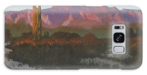 Desert Sunset Glow Galaxy Case