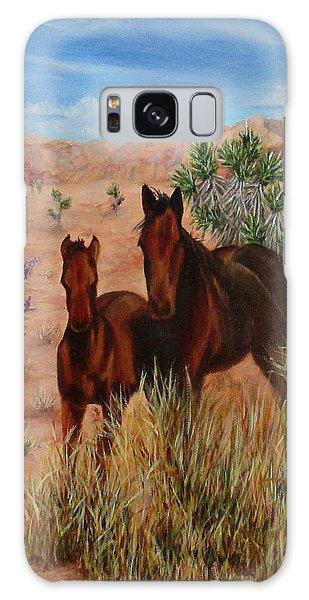 Desert Horses Galaxy Case