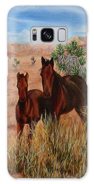 Desert Horses Galaxy Case by Roseann Gilmore