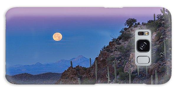 Desert Moonset Galaxy Case