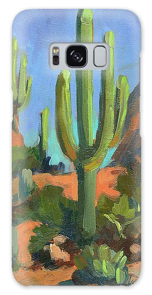 Desert Morning Saguaro Galaxy Case