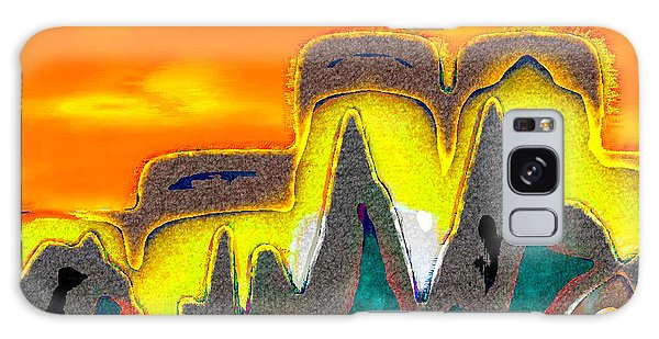 Desert Mountain Abstract Galaxy Case