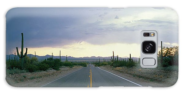 Expanse Galaxy Case - Desert Road Near Tucson Arizona Usa by Panoramic Images