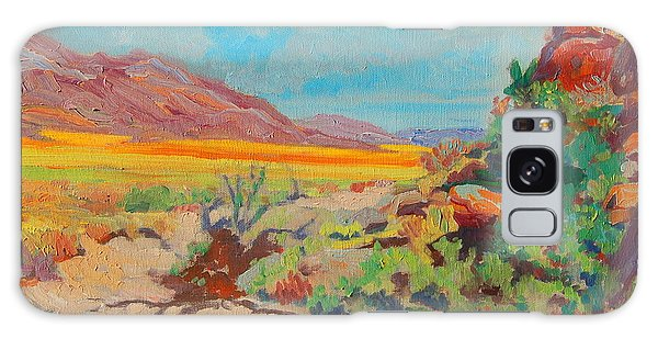 Desert Spring Flowers Namaqualand With Rock Outcrop Galaxy Case