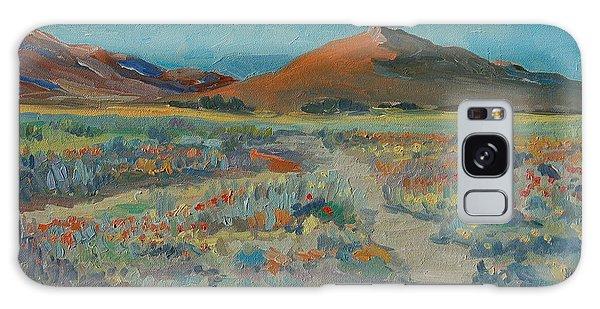 Desert Spring Flowers With Orange Hill Galaxy Case