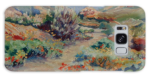 Desert Spring Flowers With Path Galaxy Case