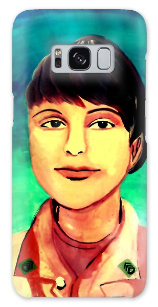 Galaxy Case featuring the painting Desert Storm Jennifer by Michelle Dallocchio