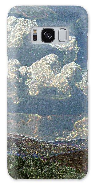 Desert Summer Rain 5 Galaxy Case by Carolina Liechtenstein
