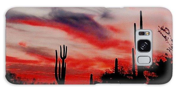 Desert Sunset Northern Lights Version 3 Galaxy Case by Joseph Baril