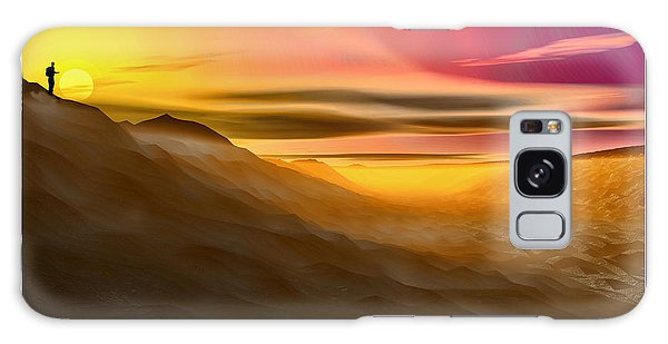Desert Sunset Galaxy Case by Tyler Robbins