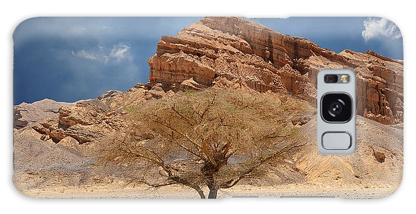 Desert Tree And Mountains Galaxy Case