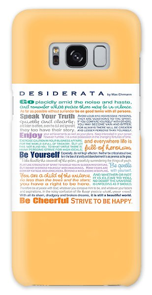 Desiderata - Multi-color - Square Format Galaxy Case