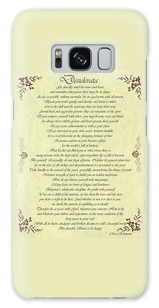 Desiderata Gold Bond Scrolled Galaxy Case